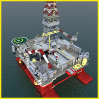 semi submersible oil rig